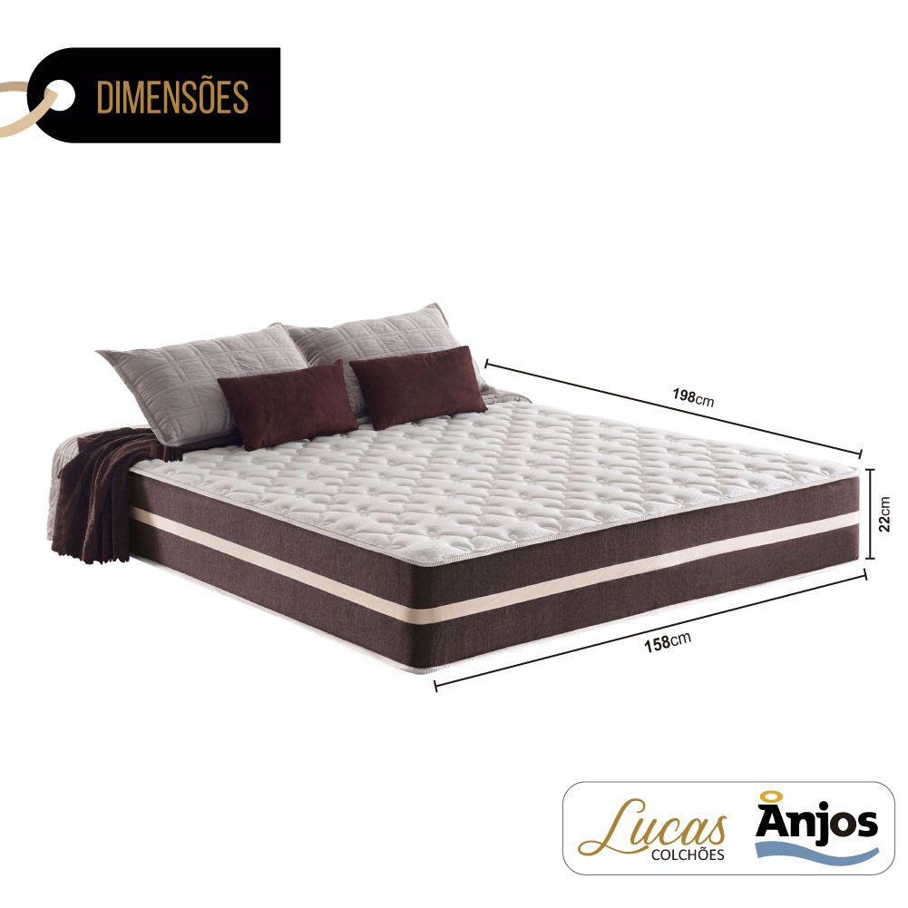 Colchão de Molas Queen - Anjos - Classic Superlastic 22x198x158cm