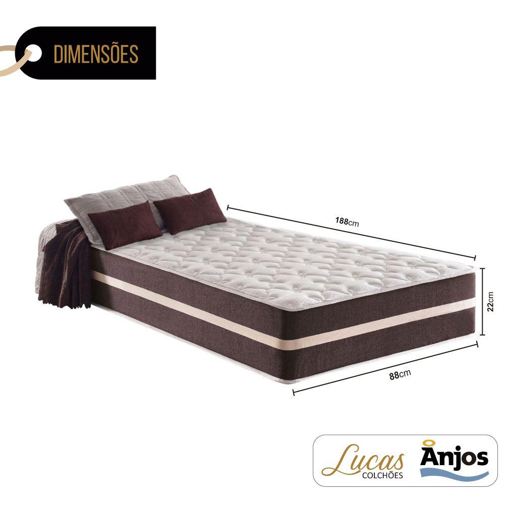 Colchão de Molas Solteiro - Anjos - Classic Superlastic 22x188x88cm