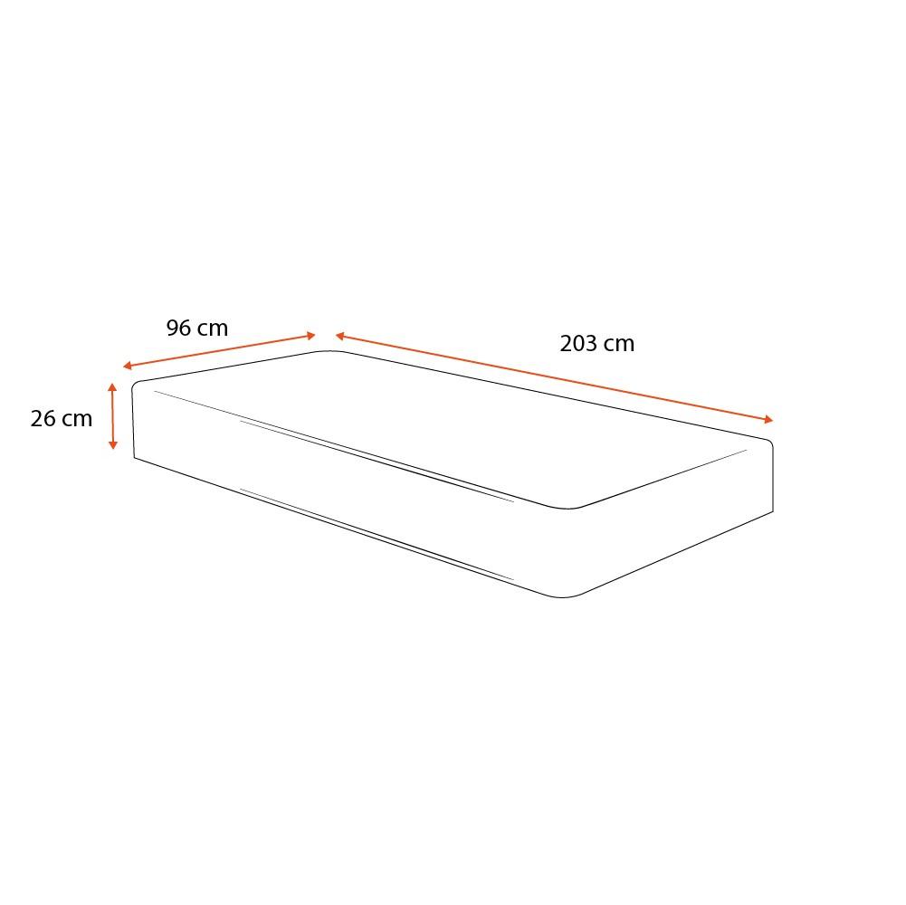 Colchão de Molas Solteiro King - Anjos - Black Graphite - 96x203x26cm