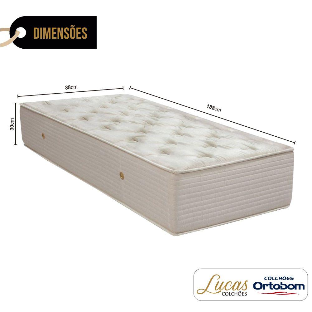 Colchão De Molas Solteiro - Ortobom - Orthotel Super Luxo 30x188x88