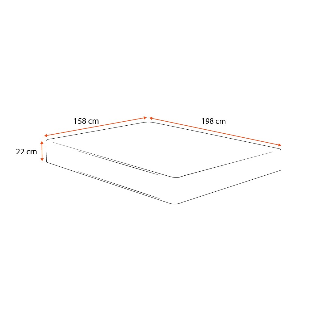 Colchão de Molas Ensacadas Queen - Comfort Prime - Prime Dreams Classic - 158x198x22cm