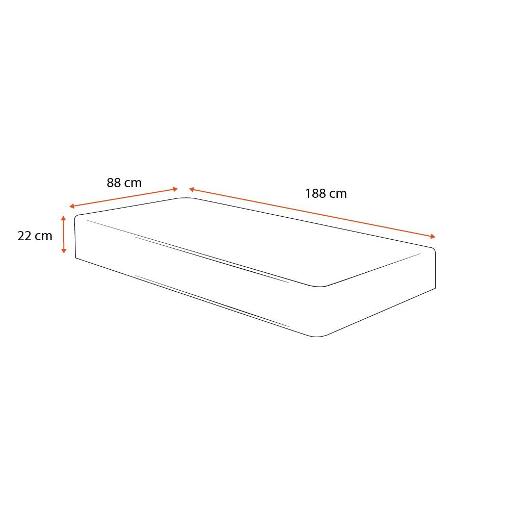 Colchão de Molas Superlastic Solteiro - Comfort Prime - Coil Classic - 88x188x22cm
