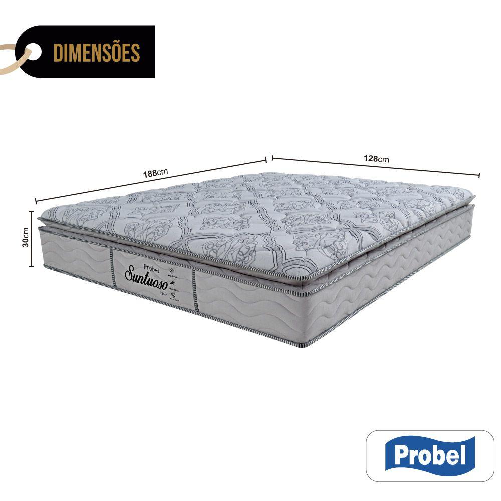 Colchão De Molas Viúva - Probel - Suntuoso Pillow Super 30x188x128