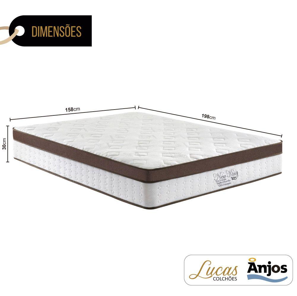 Colchão Massageador c/ Infravermelho Queen - Anjos - New King 158cm