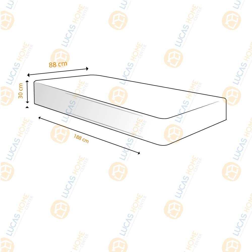 Colchão Massageador Solteiro - Mormaii - Smartzone Rupestre 88x188x30cm