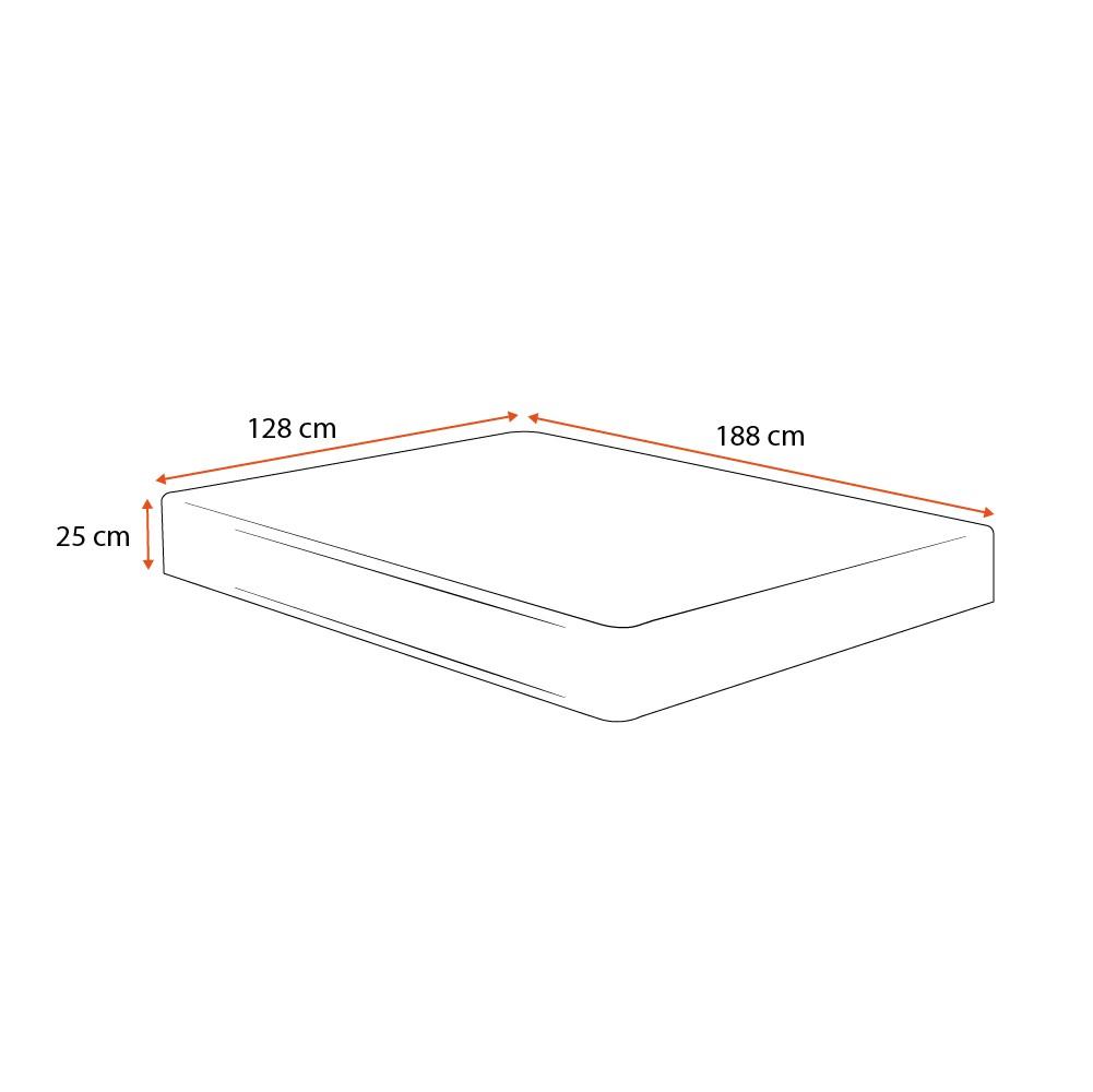 Colchão Molas Bonnel Viúva - Lucas Home - OuroFlex - 128x188x25cm