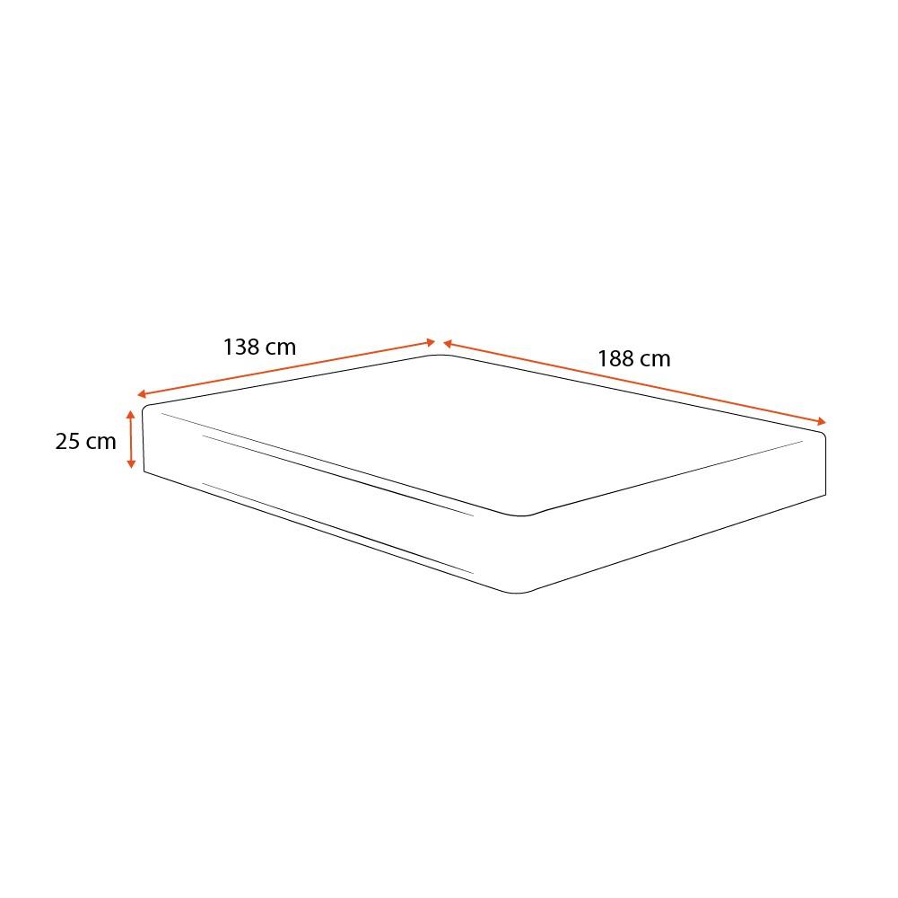 Colchão Molas Ensacadas Casal - Lucas Home - Capri - 138x188x25cm