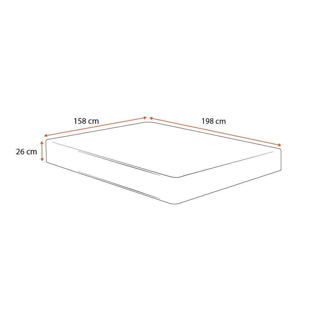 Colchão Molas Ensacadas Queen - Plumatex - Ilhéus - 158x198x26cm