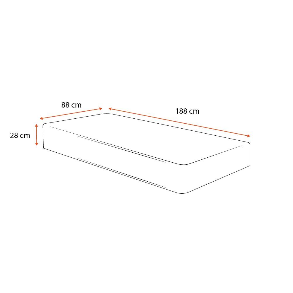 Colchão Molas Ensacadas Solteiro - Sealy - Starck - 88x188x28cm