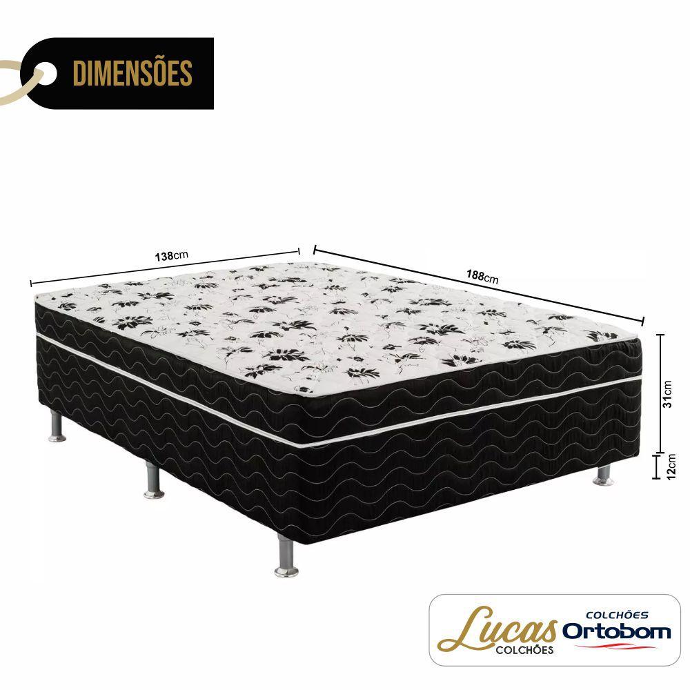 Cama Box com Colchão Conjugado Casal  - Ortobom - Union 138cm