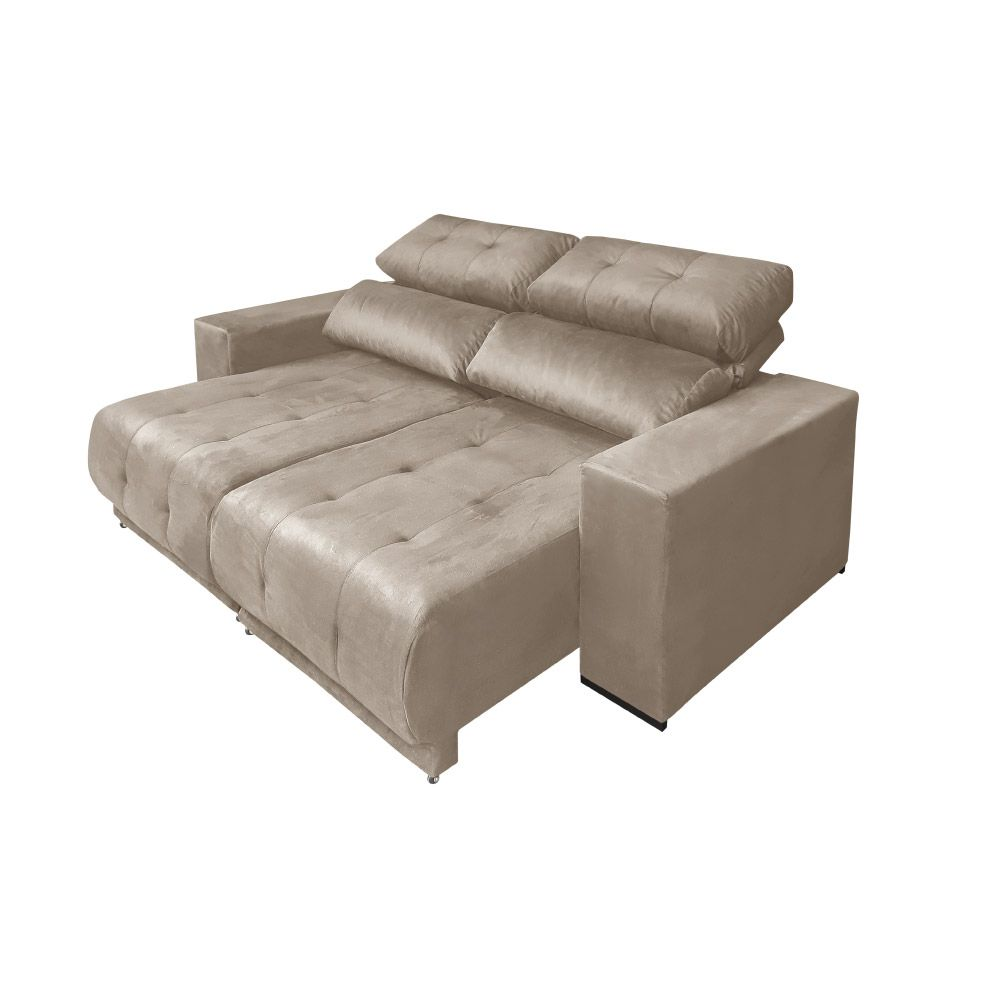 Outstanding Sofa 3 Lugares Retratil E Reclinavel Suede Choco Lucas Colchoes Paris Ref 3080 Machost Co Dining Chair Design Ideas Machostcouk