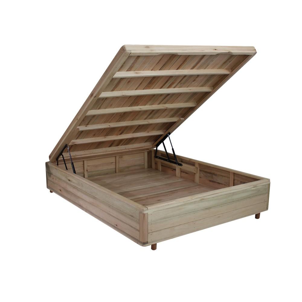 Somiê Cama Box com Baú Viúva - Lucas Home - Rústica 128x188x36cm