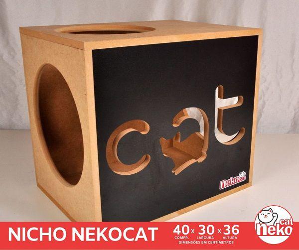 01 Nicho NekoCat -  Frente Preta