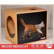 Kit 01 Nicho NekoCat + 01 Almofada -  Frente Preta