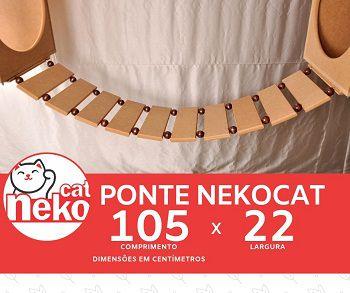 Kit 02 Nichos Gatos + Ponte - Mdf Cru