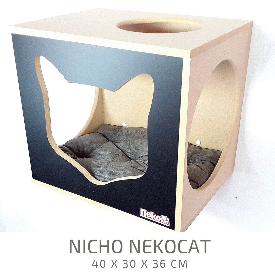 Kit Play Gatos Nicho Almof Step Face Cat Arranh 5pcs