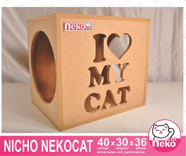 Kit 01 Nicho Gatos + 02 Prateleiras + 01 Arranhador Tubular