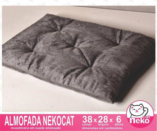 Kit 02 Nichos Gatos Almofada + 04 Prateleiras c/Carpete + 01 Arranhador Tubular - Frente Preta