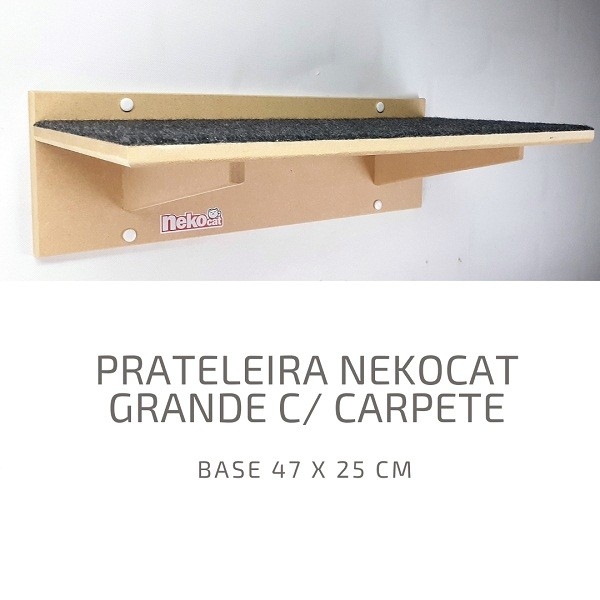 Kit Nicho Gatos Grandes + Almofada + 02 Prateleiras C/carp