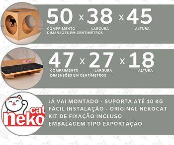 Kit Nicho Grande Gatos + 01 Almofada -  Mdf Cru