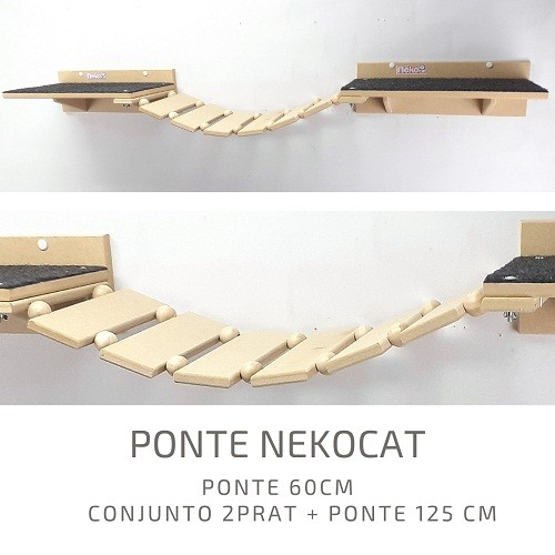 Kit Play Gatos Nekocat Nicho Prat Steps Carpete Ponte 08 Pcs