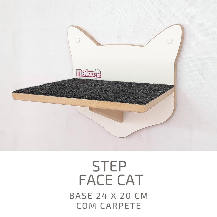Kit Play Gatos Nicho Almof Step Face Cat Arranh 5pcs