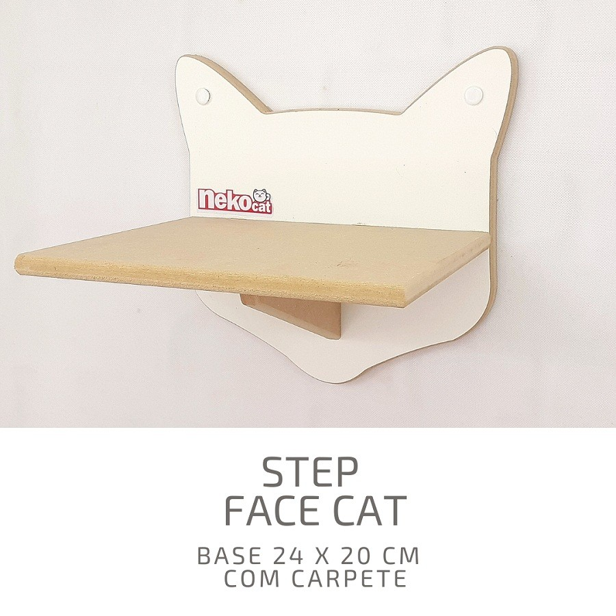 Kit Play Gatos Nicho Step Face Cat Arranh 4pcs