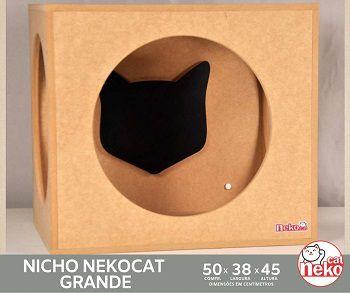 Nicho Grande Gatos - Mdf Cru