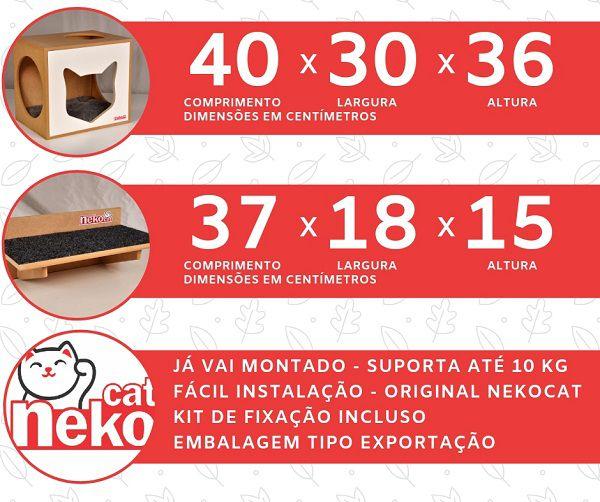 Nicho NekoCat Com Almofada -  Frente Branca