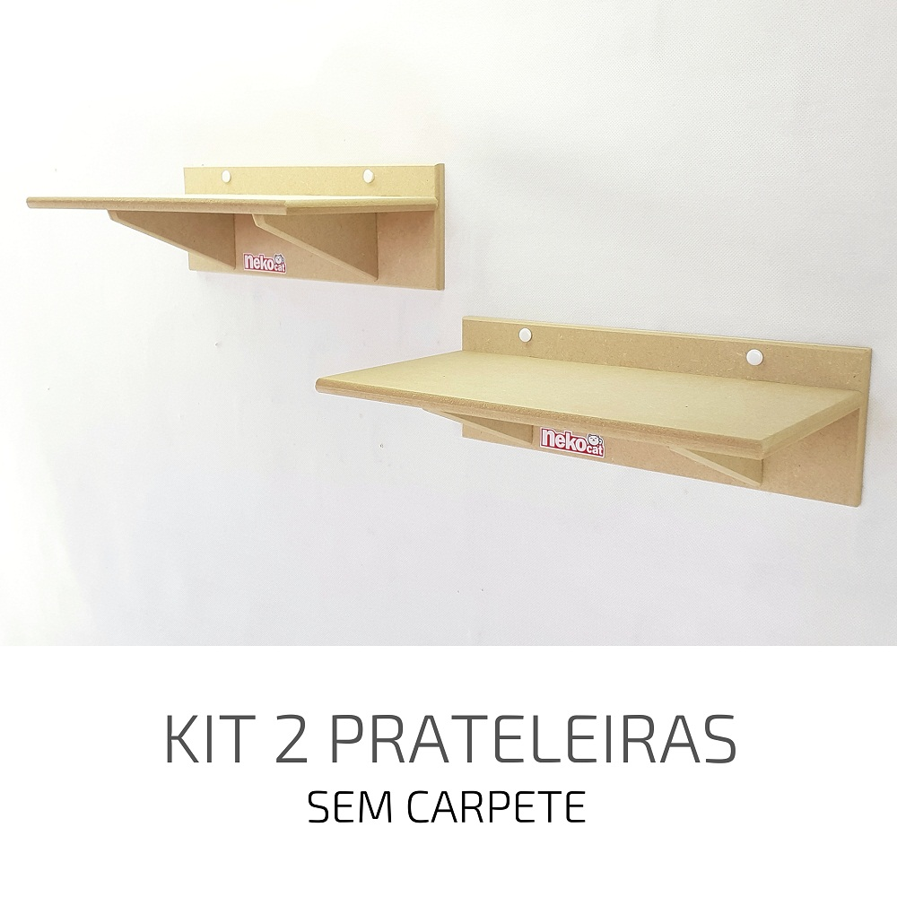 Playground Gatos Prateleiras e Degraus Mdf NekoCat Kit 02pcs