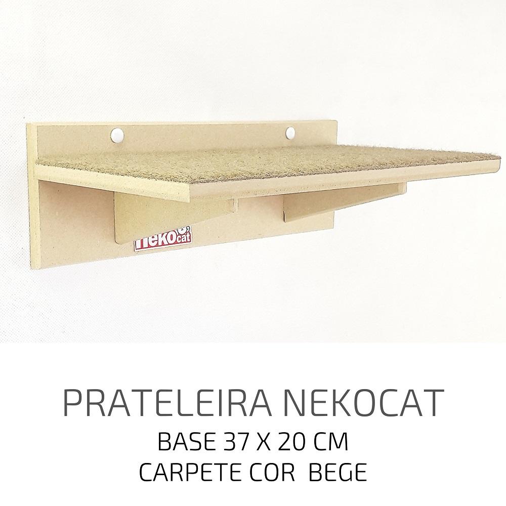 Playground Gatos Prateleiras e Degraus Mdf NekoCat Kit 03pcs