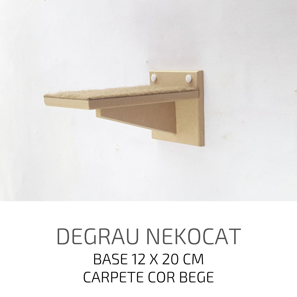 Playground Gatos Prateleiras e Degraus Mdf NekoCat Kit 12pcs