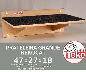 Prateleira Gatos Grande Arranhador c/Carpete - Mdf Cru