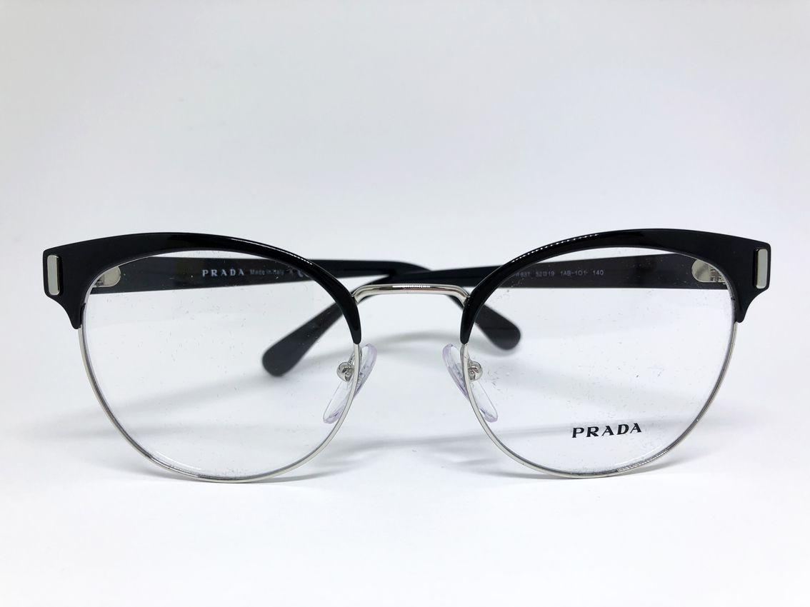 81f49487208 Óculos de Grau Prada 63T 1AB 1O1 - Óticas New Vision