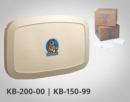 KIT Trocador de Fraldas KB-200 e Lençóis Descartáveis para trocador de Fraldas KB-150-99 by Koala Kare