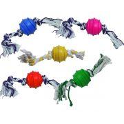Brinquedo de Bolinha Maciça com Cordas Para Cachorros