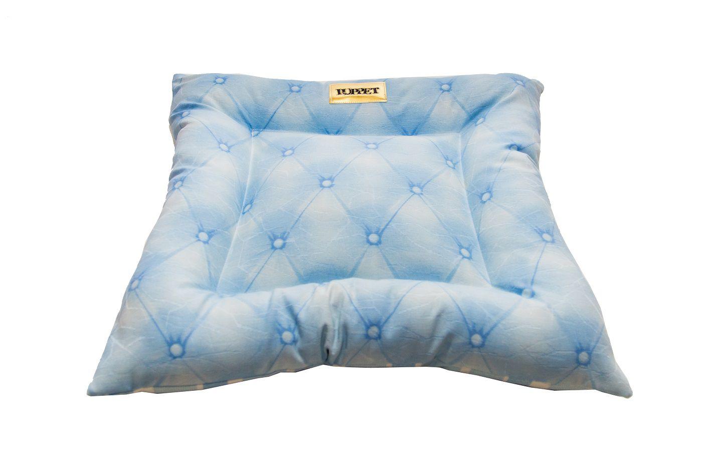 Almofada para Cachorro ou Gatos Luppet Botone Azul