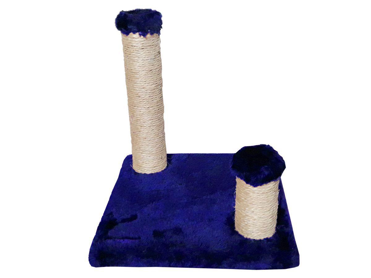 Arranhador para Gatos Sustentável com Postes Luppet Azul