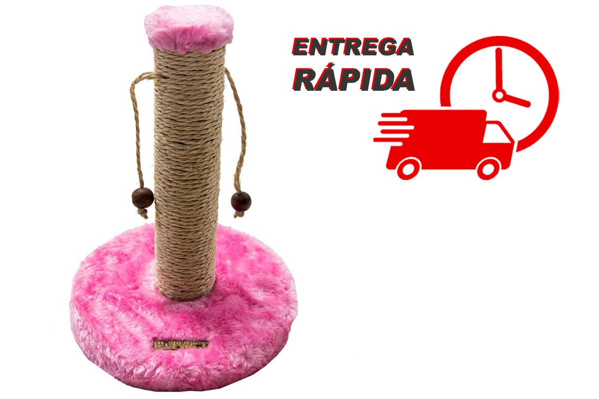 Arranhador para Gatos Sustentável Luppet com Bolinhas Rosa