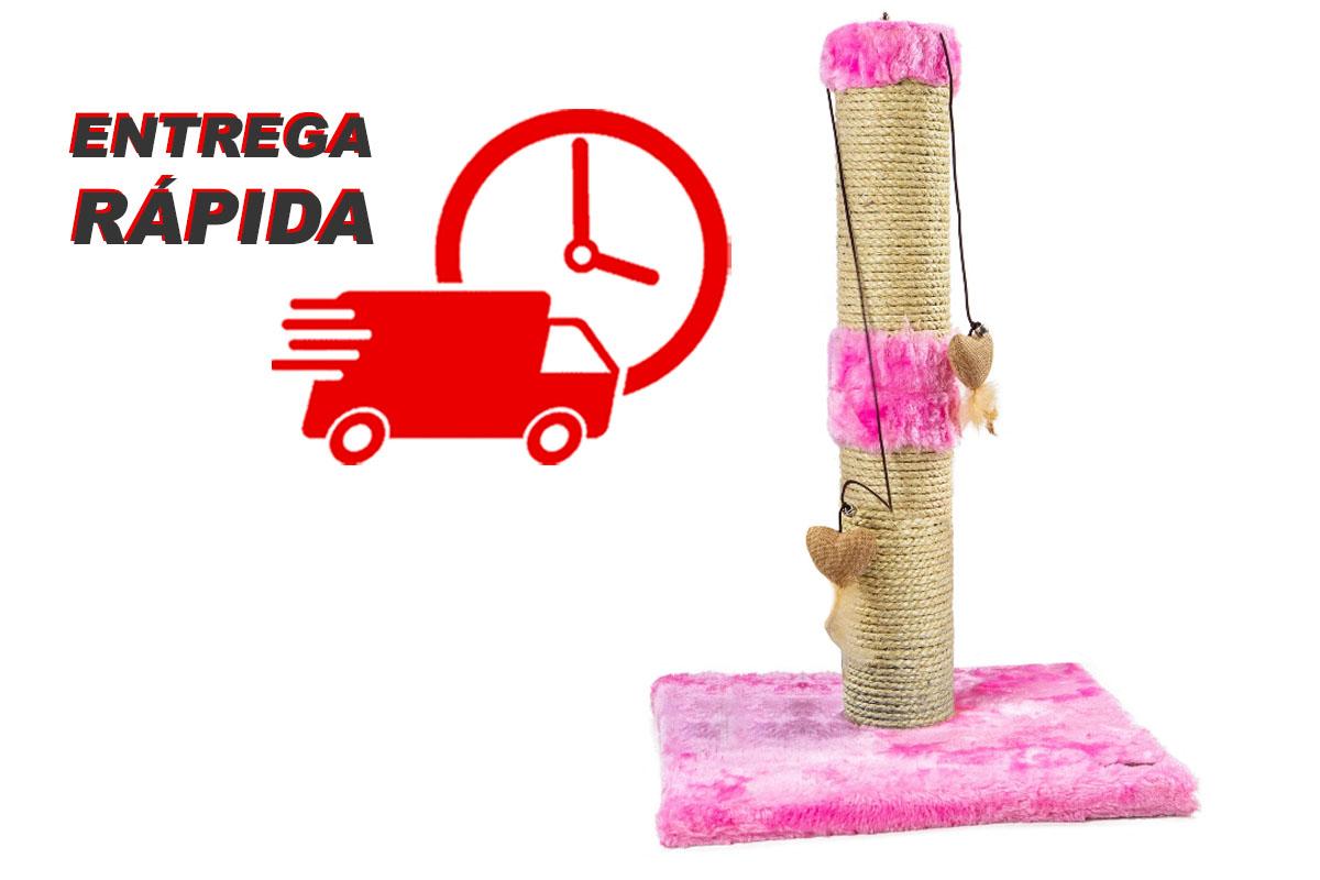 Arranhador para Gatos Torre Sustentável Luppet Rosa