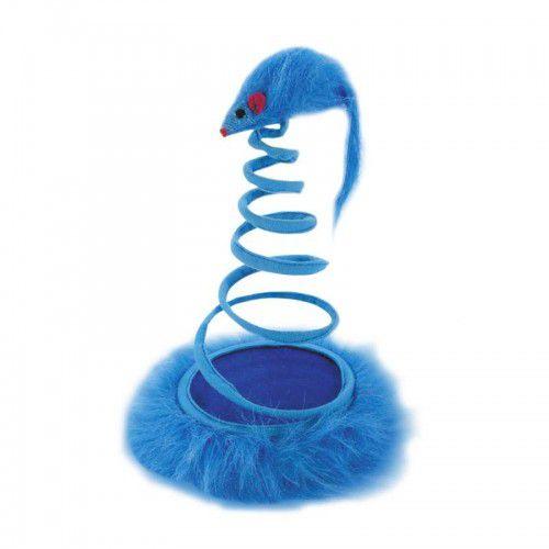 Brinquedo Mola para Gatos Azul