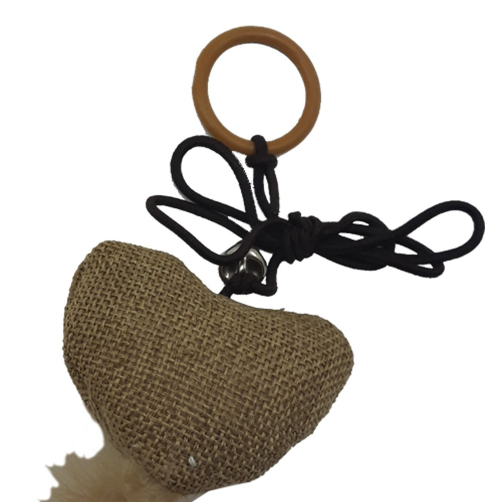 Brinquedo para Gatos Coração Sisal com Penas