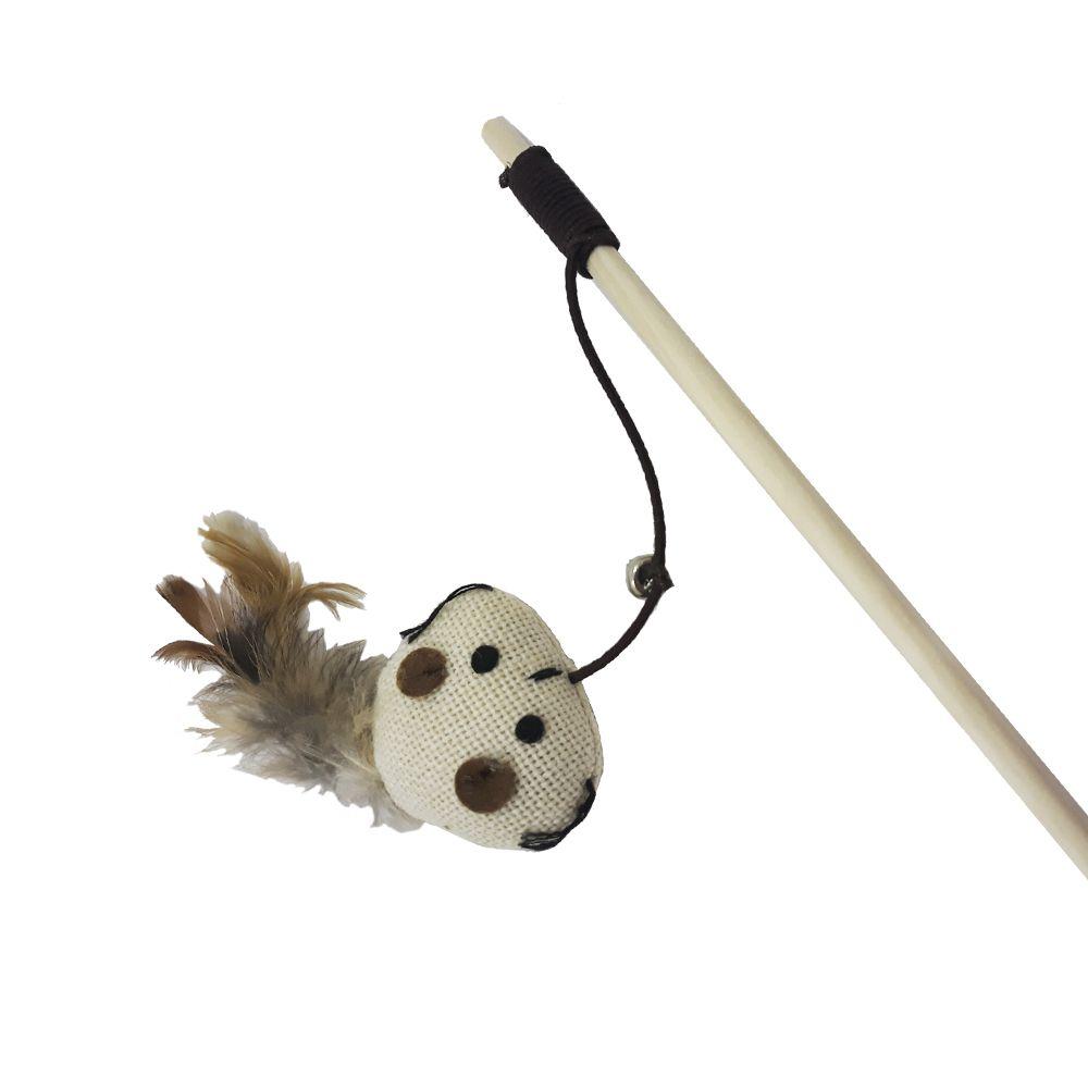Brinquedo para Gatos Varinha Gigio Penas