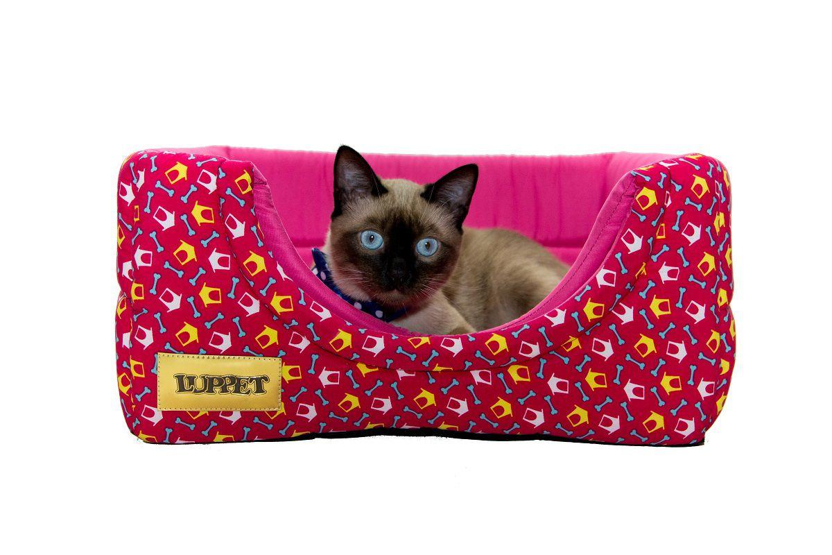 Cama Iglu e Toca Para Cachorro Luxo Luppet Rosa Casinha