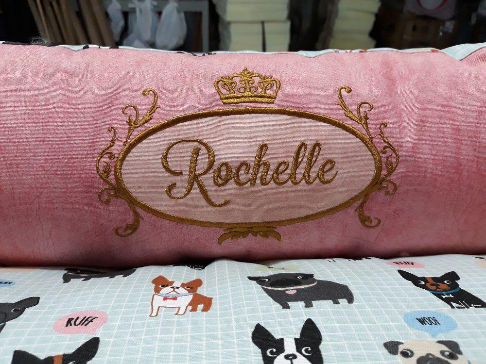 Cama para Cachorro Quadrada Impermeavel Luppet Rosa Cachorrinho