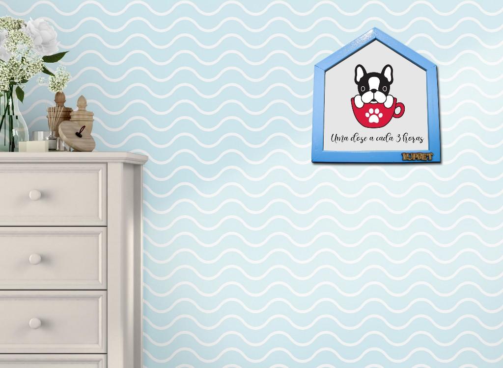 """Quadro Decorativo Para Espaço Pet """"Uma Dose A Cada 3 Horas"""""""