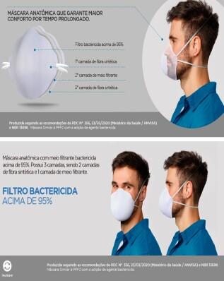 Kit 5 Mascaras de Protecao Facial Filtrante +95% - Reutilizavel