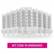 Kit Com 10 Seringas 5ml Para Caneta de Mesoterapia Pressurizada Intradermoterapia com Anvisa