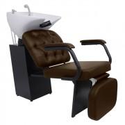 Lavatorio Barber Boss com Descanso de Pernas Kixiki