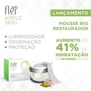 APPLE SKIN Mousse Bio Restaurador Hidratante com Prebiotico 45g Fler